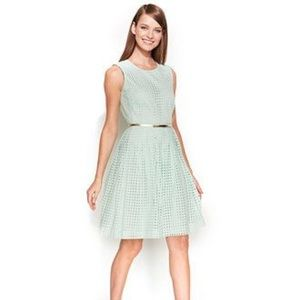 Calvin Klein Mint Green Eyelet Dress w/ Gold Belt